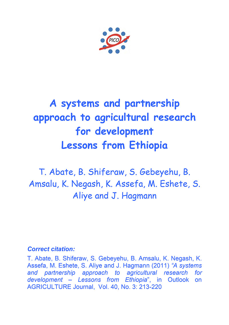 A systems and partnership approach to agricultural research for development – Lessons from Ethiopia